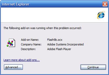 IE7 Flash error