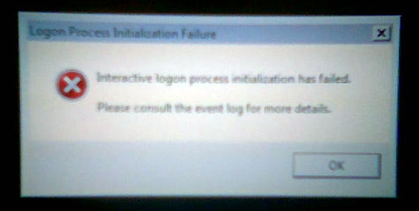 Windows Vista - Logon Process Initialization Failure