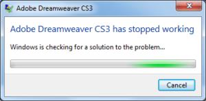 Dreamweaver Crash