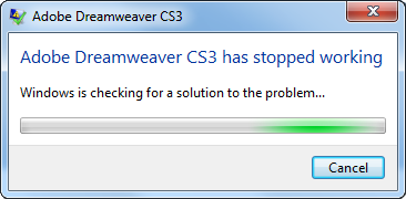 Dreamweaver Crash