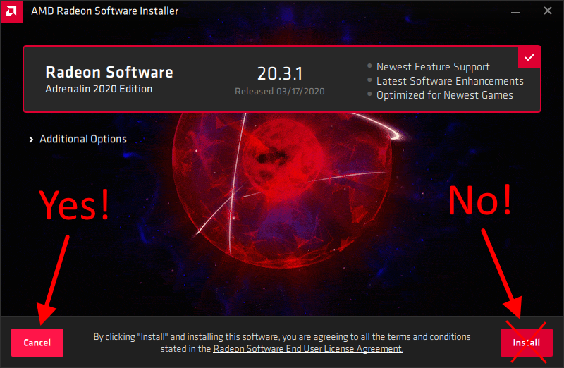Install Video Driver Only Amd Radeon Graphics Card G Fisk