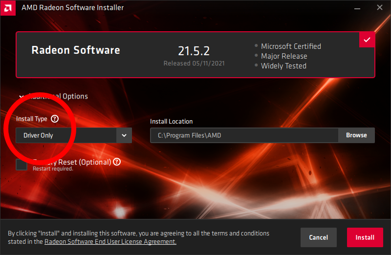 AMD Radeon - Driver Only