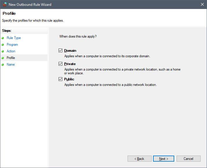 Block Application Advertisements with Windows Firewall | g fisk