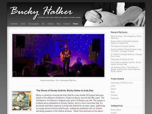 Bucky Halker Website