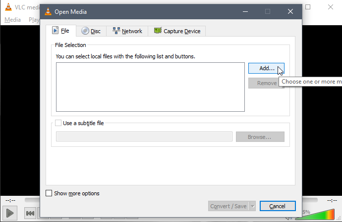 Convert Audio or Video File with VLC Media Player | g fisk