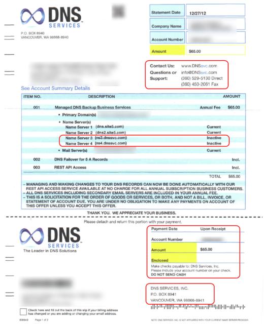 DNS Services - Vancouver, Wa - Scam