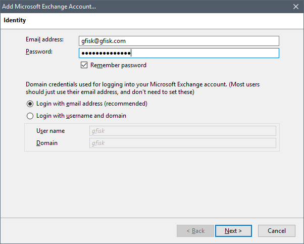 Configure Thunderbird with O365 Exchange | g fisk