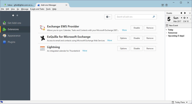 Configure Thunderbird with O365 Exchange | g fisk