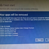 Fresh Start - Re-install Windows