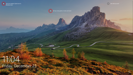 Login Screen - Ads from Windows Spotlight