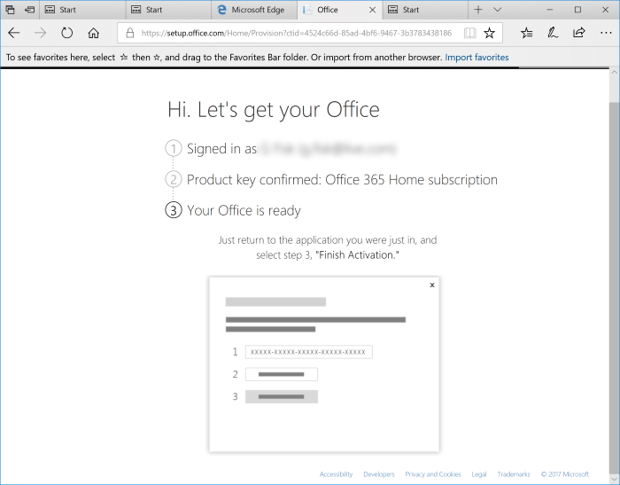 Office 365 Home - Product Key Confirmed