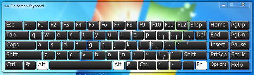 Lenovo X1 Carbon On-Screen Keyboard