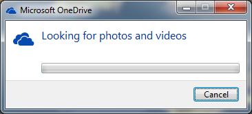 OneDrive looking for photos and videos