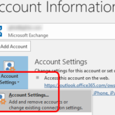 Outlook - Account Settings