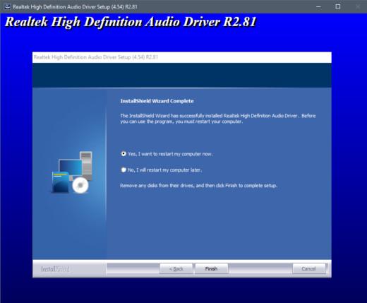 Realtek - Driver Install