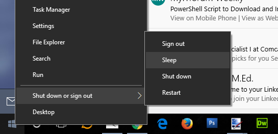 Windows 10 Start Menu Always Opens When Waking From Sleep