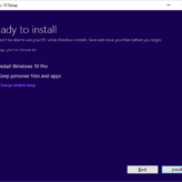 Upgrade Windows 10 - Ready To Install