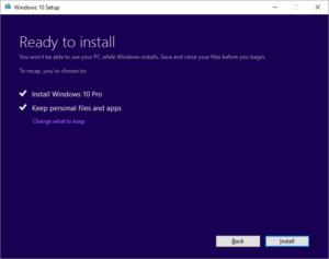 Upgrade Windows 10 - Ready To Install