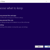 Upgrade Windows 10 - What to Keep