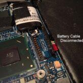 Asus Zenbook sleep crash - battery connector