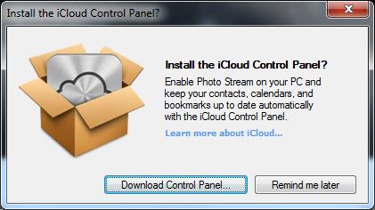 Dialog Box - iCloud options... not!