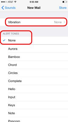 iPhone Email Notifications - Alert tones
