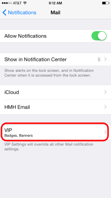 iPhone Email Notifications - VIP