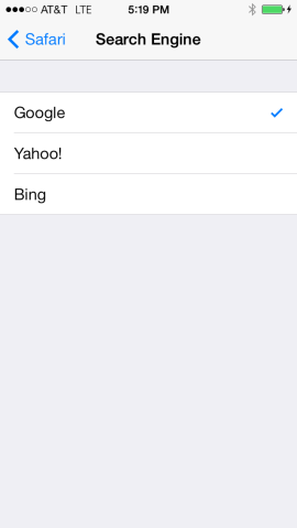 iPhone Search Engine - Change from Yahoo