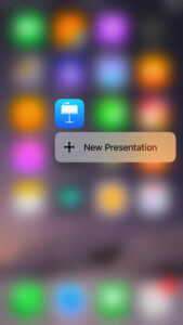 Press and hold app icons for 3d Menu