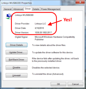 Linksys driver - good!