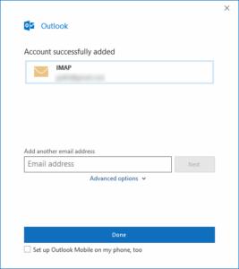 Outlook - Gmail IMAP