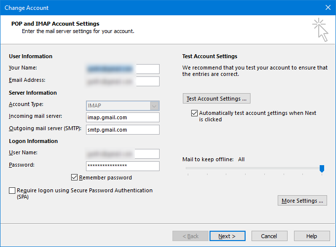 Add Gmail Account to Outlook 2016 | g fisk