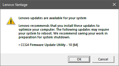 Lenovo Yoga PD Firmware Update Failure – CCG4 Two-Port USB C