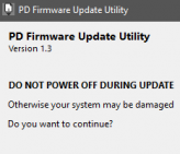 PD Firmware - Don't Power Off!