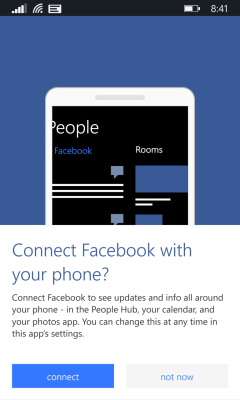 Windows Phone - Facebook Connect