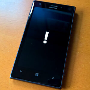 Windows Phone - Reset Exclamation