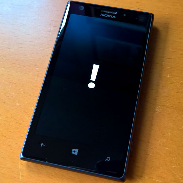 Windows Phone – Startup Blue Screen of Death | g fisk