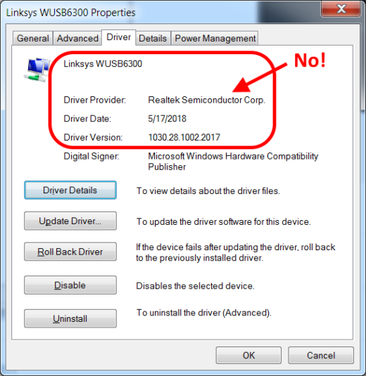 Windows update driver - No, bad!